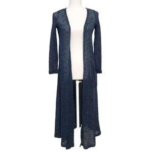LuLaRoe Other - Lularoe Sarah duster semi sheer blue long sleeve